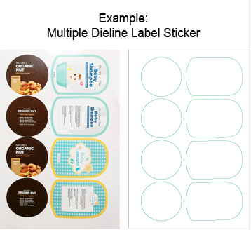 Sticker quotation Multiple Dieline Label Sticker